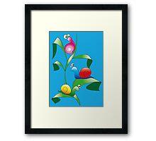 Cartoon Snails Framed Print