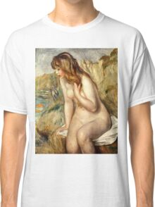 Renoir Auguste - Bather Seated On A Rock 1892  Classic T-Shirt