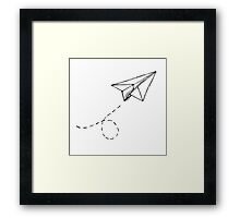 Paper Airplane 9 Framed Print
