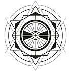 Black Geometric Triangles & Circles Secret Geometry by artonwear