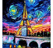 tardis starry night in the paris Photographic Print