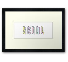 Pastel Collection: Seoul Framed Print
