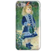 Renoir Auguste - A Girl with a Watering Can (1876)  iPhone Case/Skin