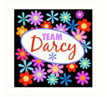 Team Darcy Flower Power Art Print