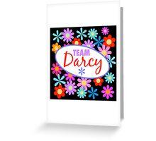 Team Darcy Flower Power Greeting Card