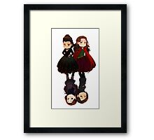 DUAL Red Queen Framed Print