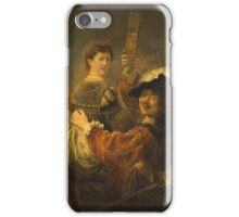 Rembrandt - Rembrandt And Saskia In The Scene Of The Prodigal Son iPhone Case/Skin