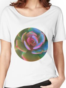 Pink Succulent Women's Relaxed Fit T-Shirt