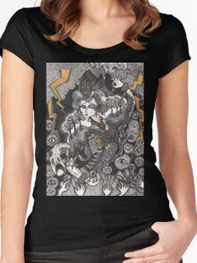 She Was A Haunted House Women's Fitted Scoop T-Shirt