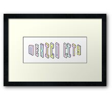 Pastel Collection: Mexico City Framed Print
