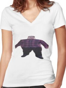 FAT SCARSE LOL Women's Fitted V-Neck T-Shirt