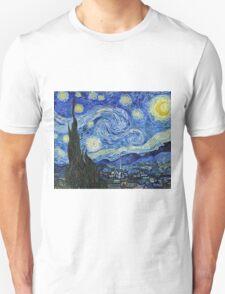 Vincent Van Gogh -  Starry Night 1889  Unisex T-Shirt