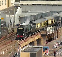 Southern Railway 34046 'Braunton' at Dawlish by Rorymacve
