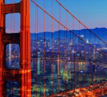 San Francisco at Sunset Sticker