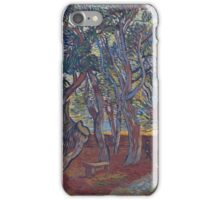 Vincent Van Gogh -  Garden Of  Asylum In  Saint-Remy, 1889 (Van Gogh Museum Version) iPhone Case/Skin