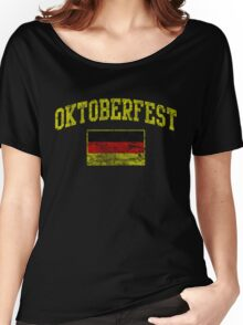 Vintage Oktoberfest German Flag  Women's Relaxed Fit T-Shirt