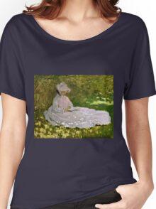 Claude Monet - Springtime (1872)  Women's Relaxed Fit T-Shirt