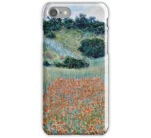 Claude Monet - Poppy Field in a Hollow near Giverny (1885)  iPhone Case/Skin