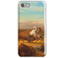 Albert Bierstadt - The Last Of The Buffalo iPhone Case/Skin