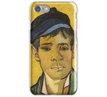 Vincent Van Gogh - Young Man With A Hat 1888 iPhone Case/Skin