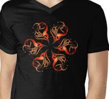 Dash-flower Mens V-Neck T-Shirt