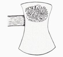 Axe-O-Holics Anonymous Axe Head Ornate Stamp Kids Tee