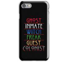 The American Horror Seasons iPhone Case/Skin