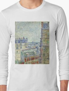 Vincent Van Gogh - View From O s Apartment, March 1887 - April 1887  Long Sleeve T-Shirt
