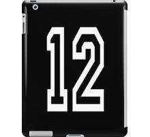 12, TEAM SPORTS, NUMBER 12, TWELVE, TWELFTH, Competition, WHITE iPad Case/Skin