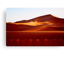 to the largest dune Canvas Print