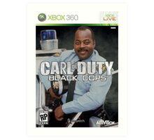 Carl on Duty: Black Cops Art Print