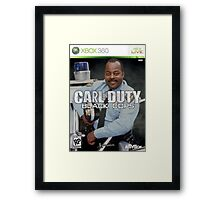 Carl on Duty: Black Cops Framed Print