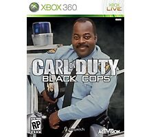 Carl on Duty: Black Cops Photographic Print