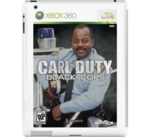 Carl on Duty: Black Cops iPad Case/Skin