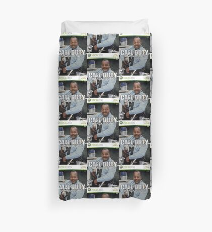 Carl on Duty: Black Cops Duvet Cover