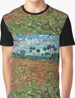 Vincent Van Gogh - Poppy Field 1890  Graphic T-Shirt