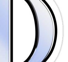 Phi Greek Letter Symbol Chrome Carbon Style Sticker