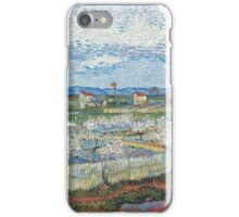 Vincent Van Gogh - Peach Blossom In Le Trebon, 1889 iPhone Case/Skin
