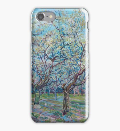Vincent Van Gogh - Orchard With Blossoming Plum Trees, 1888 iPhone Case/Skin