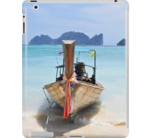 Traditional longtail boat ,Thailand iPad Case/Skin