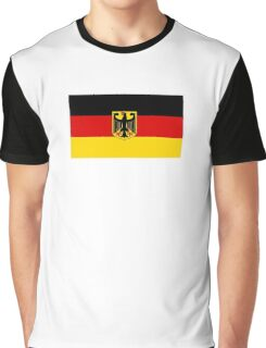 GERMANY, GERMAN, FLAG, Coat of arms of Germany, Common unofficial flag variant Graphic T-Shirt