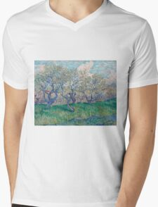 Vincent Van Gogh - Orchard In Blossom, 1888 01 Mens V-Neck T-Shirt