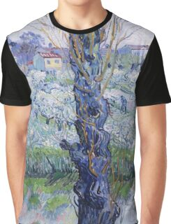 Vincent Van Gogh - Orchard In Bloom With Poplars, 1889 Graphic T-Shirt