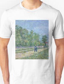 Vincent Van Gogh - Man With Spade In A Suburb Of Paris, 1887 Unisex T-Shirt