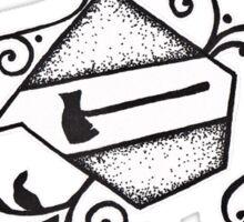 Axe-O-Holics Anonymous Douglas Axe Co Stamp Sticker