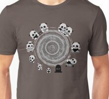 Circle Of Life in Black and White Unisex T-Shirt