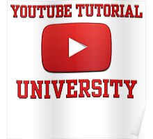 Youtube Tutorial University Poster