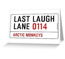Arctic Monkeys - Fluorescent Adolescent Last Laugh Lane Greeting Card