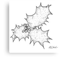 Holly Leaf (With berries) Canvas Print