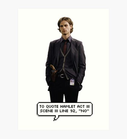 Spencer Reid Criminal Minds Art Print
